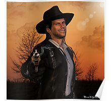 Tex - 3D Graphic Artwork Cowboy Western Outlaw Poster