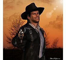 Tex - 3D Graphic Artwork Cowboy Western Outlaw Photographic Print