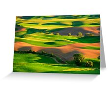 Palouse Patchwork Greeting Card
