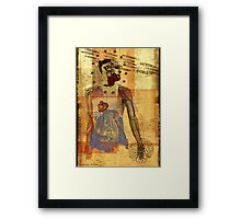 selfportrait - waiting for things to come... Framed Print