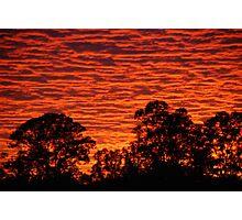 Sun set over a city suburb Photographic Print