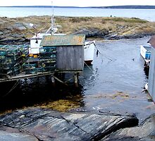 Tiny Harbour at Blue Rocks(1) by Jann Ashworth