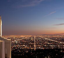 Sunset from Griffith Observatory.  by Helen Watson
