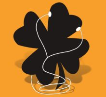 I RISH -  Shamrock with Ear Buds  by Gravityx9
