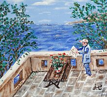 Reading by the Sea by MastroYiannis
