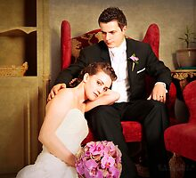gorgeous bride and groom  by claudiaveja