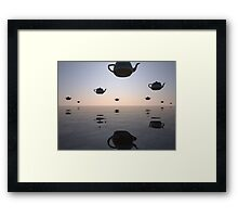 UFTs (unidentified flying teapots) Framed Print