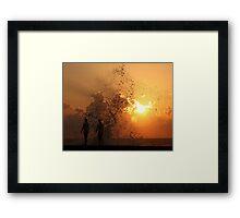 Sunset Through the Splash (Havana) Framed Print