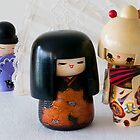 Kokeshi Dolls with Fan by AnnieD