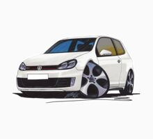 VW Golf GTi (Mk6) White by Richard Yeomans