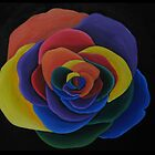 Rainbow Flower by artbyalycia