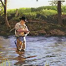 The Fly Fisherman by Kenneth Young