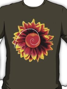Sunflower Heart Phi Spiral T-Shirt