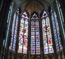Church Window of Carcassonne by HELUA