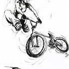 The Girl BMXer by ruthjoyce