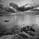 Approaching Dusk at Longniddry Bents (Mono) by Christopher Thomson
