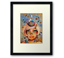 There's a Butterfly on my Nose Framed Print