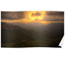 Contemplation - Jamieson Valley - Blue Mountains World Heritage Are - The HDR Experience Poster