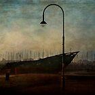 St Kilda Wreck on jetty by Sonia de Macedo-Stewart