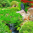 Garden Waterfalls photo painting by randycdesign