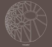 Cosmic Sunflower [white design] by TheMandalaLady