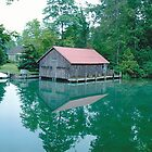 Old boathouse in Leland, Michigan by BonaParte
