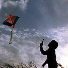 LOOK, DAD I AM FLYING A KITE by RakeshSyal