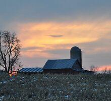 Parker City Sunset 2/1/10 by mltrue
