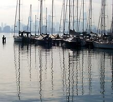 Masts & City Skyline from Williamstown  by carmel riordan