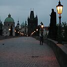 Dawn over Charles Bridge by katypryor