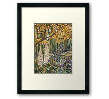 White Lupins in Monets Garden Framed Print
