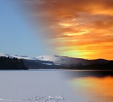 Winter and Summer at Loch Ken by Kim  Ayres