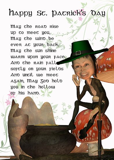 St. Patrick's Day Card With Irish Blessing by Moonlake