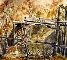 the Old Beamish wheel by Colin Cartwright