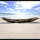 Nihiwatu, Indonesia-- Old Canoe by tomcelroy