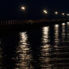 Jetty at night by Scott Pounsett