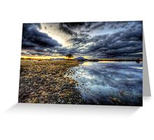 Willow Winter Clouds Greeting Card