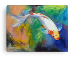 Koi Art Pirouette Canvas Print