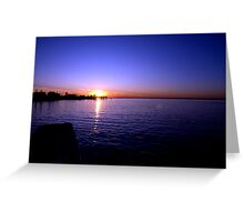 Sunset at Baypoint, New Jersey Greeting Card