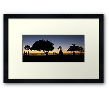 Early morning silhouettes Framed Print