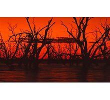 Menindee Sunset Photographic Print