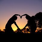 Sunset Valentine by rebecca brace