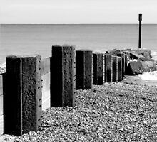Metal Posts on the beach at Waxham in Norfolk by johnny2sheds