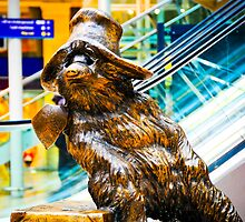 Paddington Bear Portrait: Paddington Station London. UK. by DonDavisUK