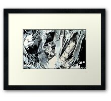 Underneath the sound of madness  Framed Print