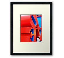 Turning a corner on love Framed Print