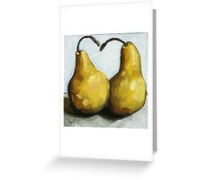 Sweet Loving Pair - still life pears Greeting Card