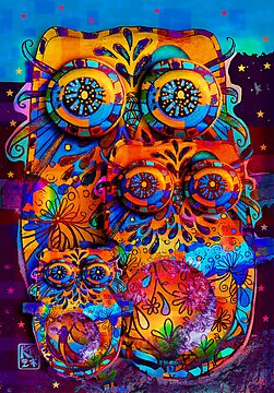 Radiant Owls  by Karin  Taylor