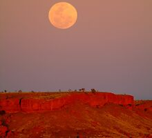 Balgo Hills Moon Rise,WA by Joe Mortelliti