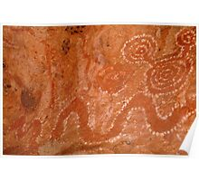 Aboriginal Rock Art,Balgo Hills.WA. Poster